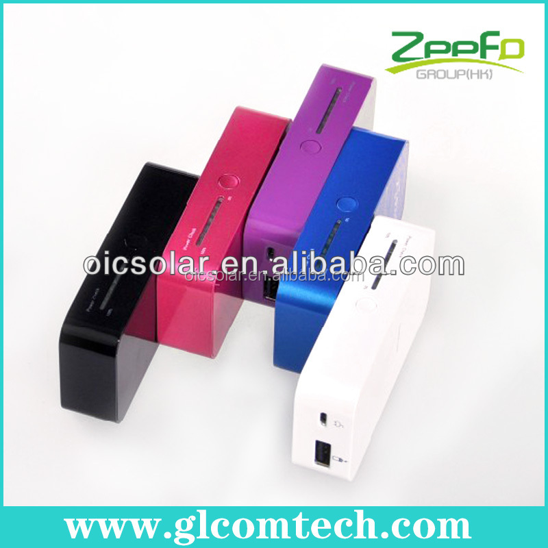 China factory CE,FCC,RoHS 5200mAh Lithium-polymer rechargeable slim portable mobile charger