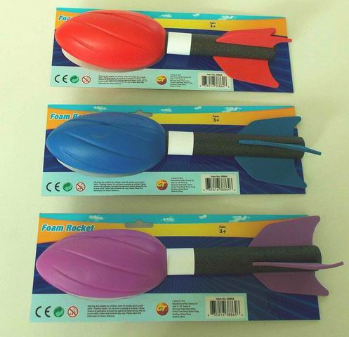 Outdoor Sports Toy Throwing PU Foam Rocket Set for Kids