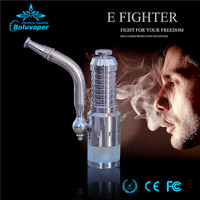 free sample new arrival smoking metal e pipe e hookah E-Fighter ecigarette starter kit with bottom dual coil atomizer
