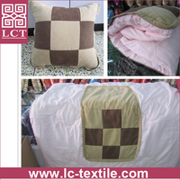 wholesale new arrival 2 in 1 foldable blanket design comfortable restaurant pillow with patchwork cover(LCTP0136)