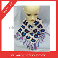 Acrylic Knitted Handmade Crochet Fashion Shawls