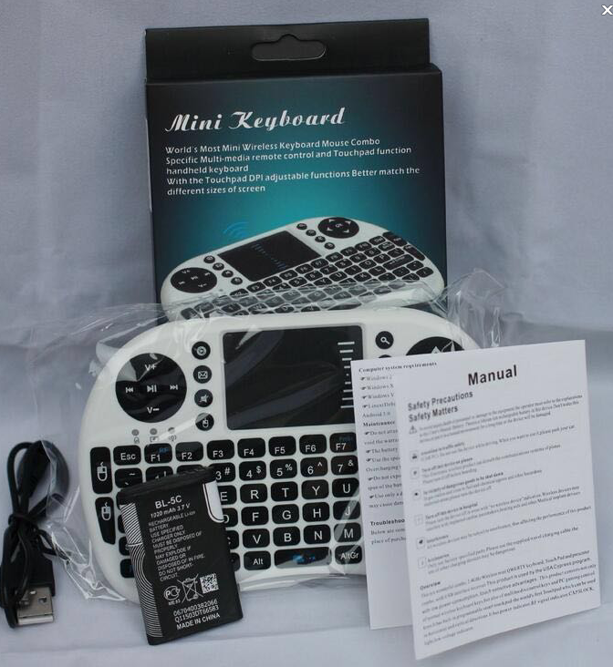 i8 Mini Wireless Keyboard 2.4GHz English Russian Air Mouse Keyboard Remote Control Touchpad For Android TV Box