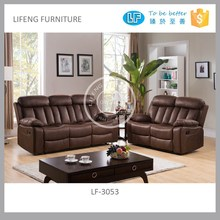 living room furniture, Wholesaler china Modern high-end fashion leather china recliner sofa, recliner sofa set LF-3053