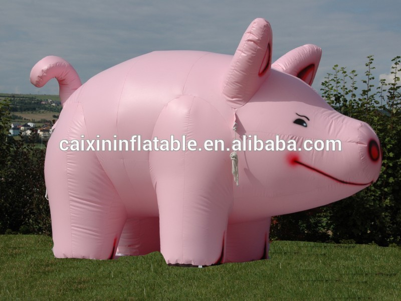 Newest Design Custom Inflatable Fat Pig Animal / Giant Inflatable Replica Pig Cartoon For Advertising