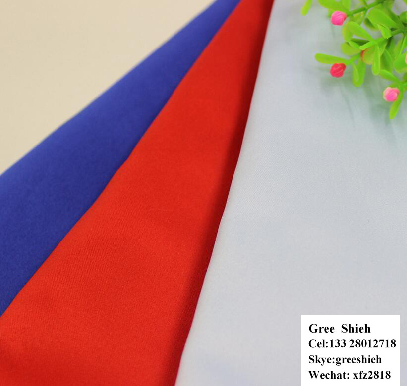 Factory wholesale 137 colors drapery stiff satin fabric