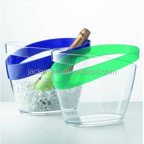 Party Supplier Acrylic Wine Tub Ice Cooler Plastic Ice Bucket Wine Cooler