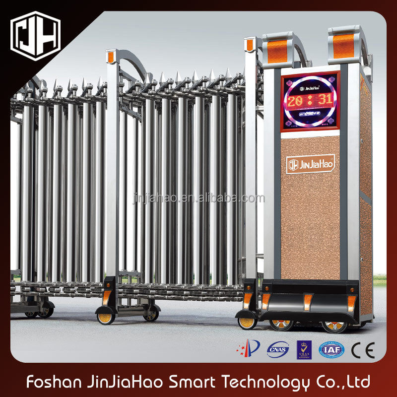 hot sale new product stainless steel retractable sliding gate
