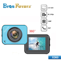 2016 new product 60m waterproof 2'' wifi full hd sport action camera 1080p X360