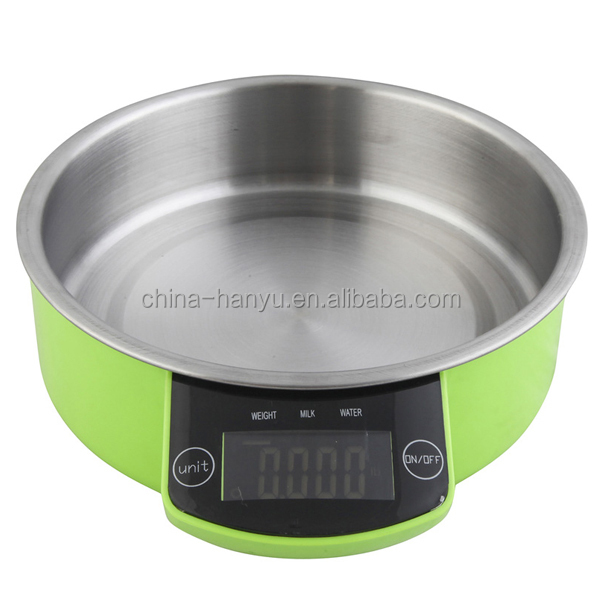 EK2151 stainless steel electronic kitchen food scale with bowl