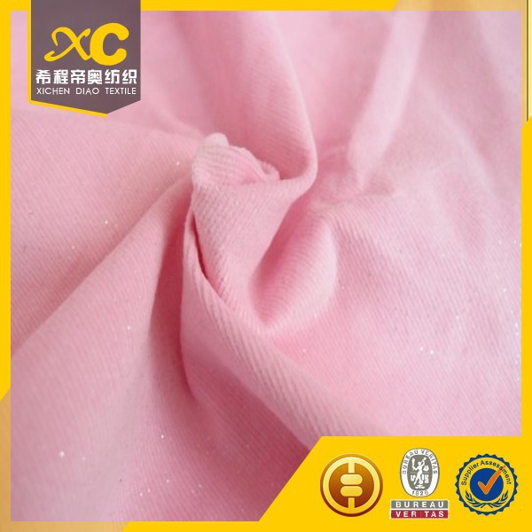 Fashion velvet corduroy textile fabric