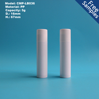 5g white cosmetic lipstick lip balm tube