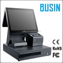 Easy maintenance 15 inch 1024x768 resolution touch screen pos cashier register machine