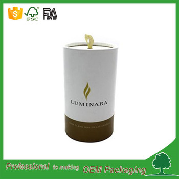 Wholesale custom printed cylinder packaging round paper box for gift candle jar packaging