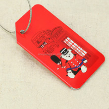 England style airplane animal shape luggage tag for travel