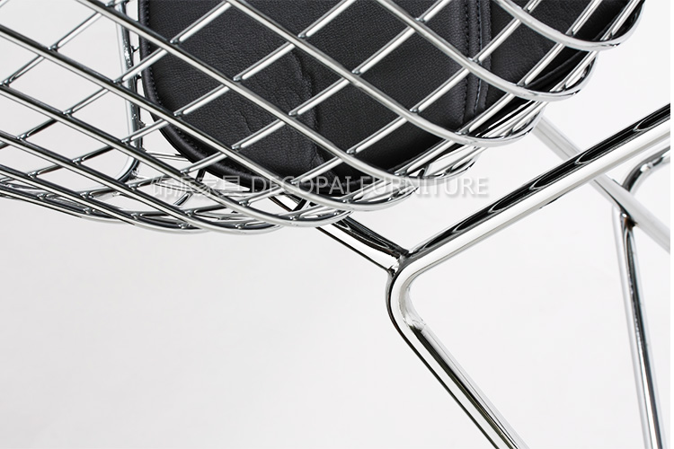 Chrome Bertoia Bar Stool Diamand Metal 36 Inch Wire