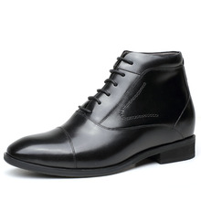 OEM logo name ankle boots with lace up/ men leather boots