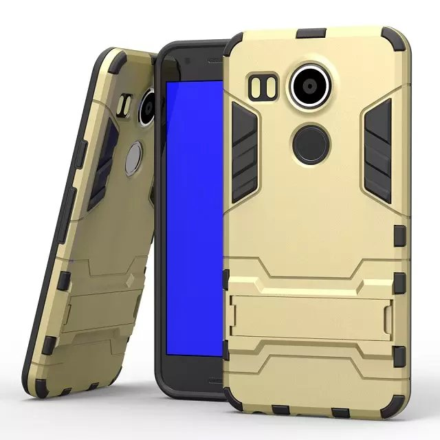 Hot Selling Iron-Bear Rugged Hybrid Stand Shockproof Phone Case Cover For LG Nexus 5