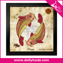 Pisces ! modern zodiac art painting on canvas wall art decor