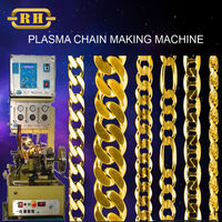 0.40mm 24K Gold Automatic chain making machine with Plasma