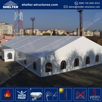 Huge and strong wooden floor tent for outdoor events produced in China