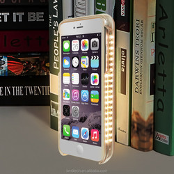NEW 2016 ABS Material LED Light Selfie Phone Case Cover for iPhone 6 6s phone case