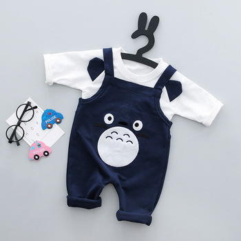 kids dark blue shorts and white blouse sets baby costume clothing summer baby clothes