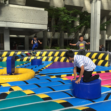 Guangzhou OHO hot sale <strong>inflatable</strong> wipe out sport game for team <strong>inflatable</strong> interactive adult game