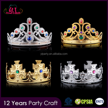 Custom Plastic King Crown Miss World Tiara Decorations For Sale
