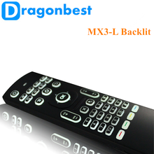 2017 New design MX3-L backlit air mouse Remote controller 2.4g mx3 dual wifi / 5g Somatosensory remote control
