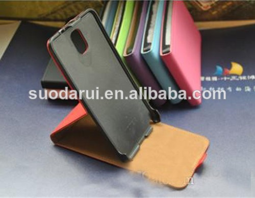 Luxury Stand Flip Leather Case cover For Samsung Galaxy Note 3 N9000 case for Note3 Mix color