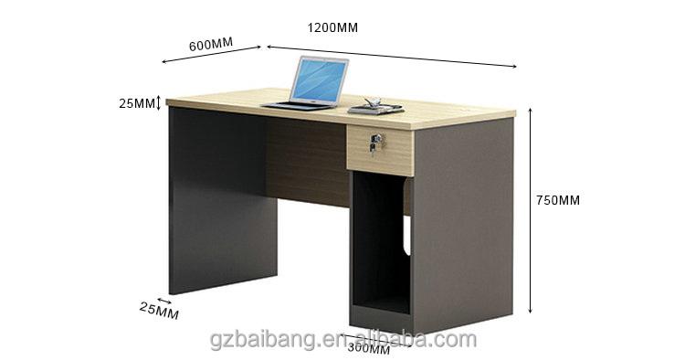 Usine pas cher ordinateur de bureau en bois simple conception bureau bureau Table en bois ID de