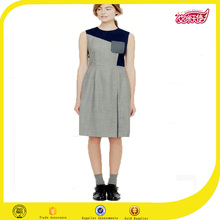 Grey round collar new dress fashion designer frock short dress hot sex woman pictures frock design for girls