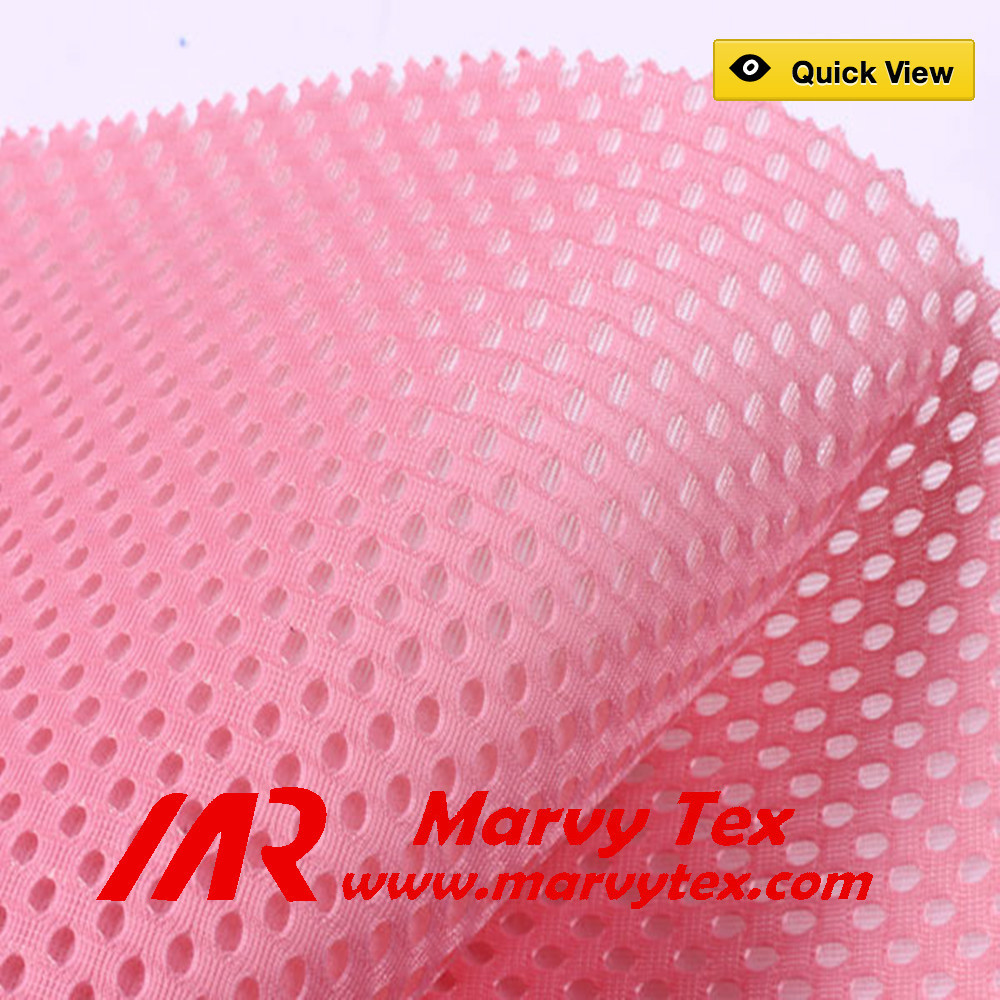 100 polyester breathable 3D spacer air mesh lining knitted fabric for sports running shoes