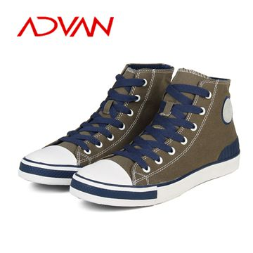 Wholesale High Cut Latest Casual Style Man Handmade Canvas Shoes Male