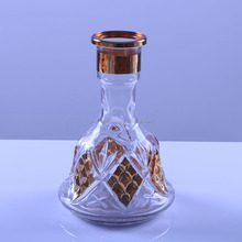 Electroplate clear shisha glass hookah bottle