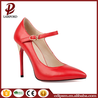 2016 fashion new style model women party classic red 10cm leather high heel shoes