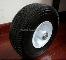 flat free solid pu foam rubber tires and wheels