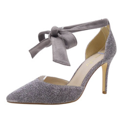 Tailor Made Customized Thin Silver grey Ladies Shoes High Heel Women