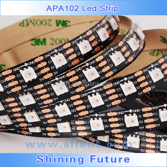 4m DC5V IP65 WS2812B led digital strip,60pcs WS2812B/M with 60pixels;57.6W;BLACK pcb;waterproof in