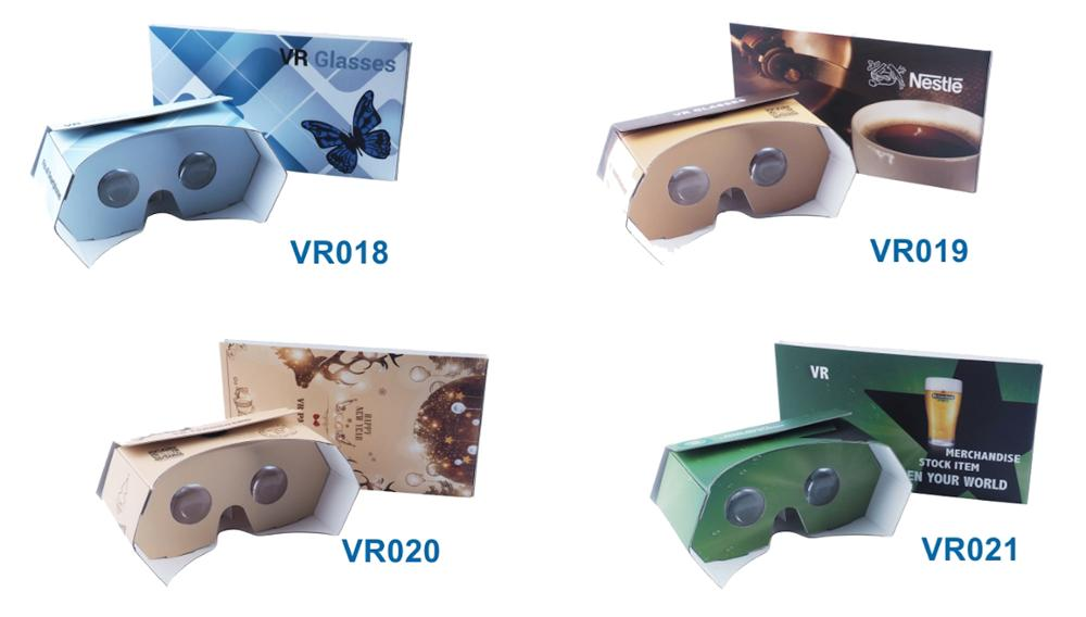 2017 portable and foldable google cardboard 3.0 vr glasses