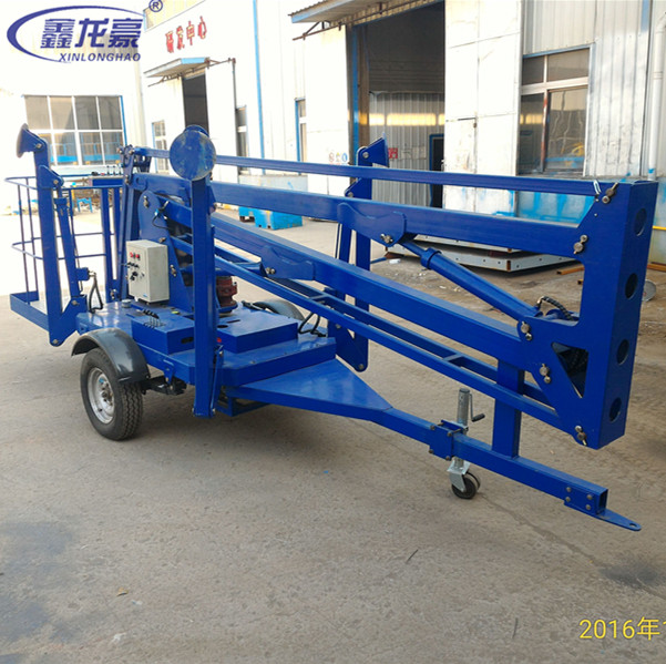 Aerial trailing spider lift/trailer towable articulated boom lift/sky lift tables