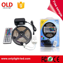 3528 RGB IP65 waterproof rgb led strip 5m with 12v adapter and controller