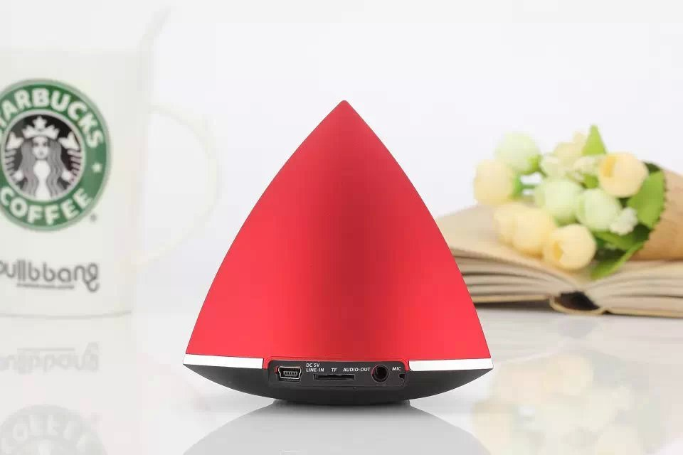 new model cheap Music mini triangle bluetooth speaker
