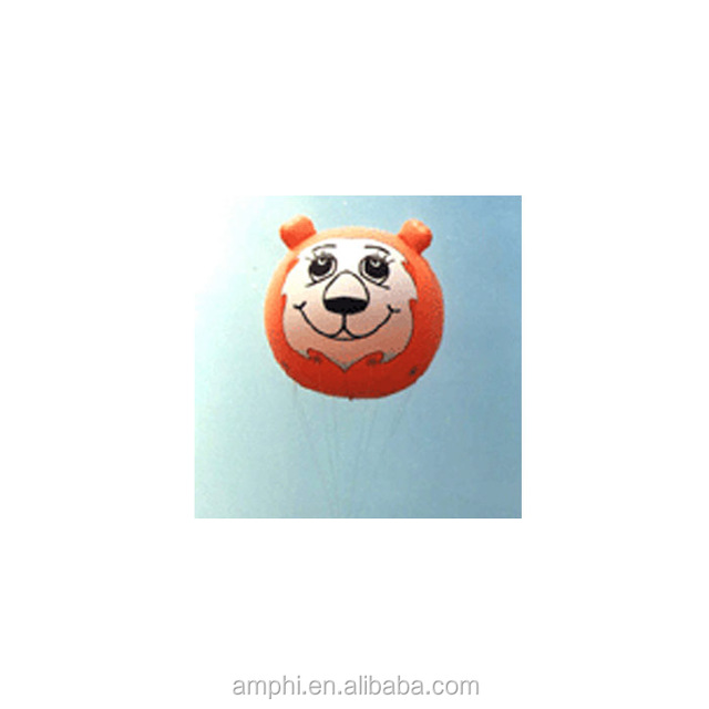inflatable lion face helium airplane balloon