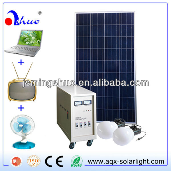 80W Solar power system with led lights,TV