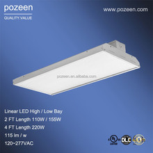 warehouse led lighting 155w 2ft length with DLC UL cUL Update from led fluorescent fixtures low bay led lighting