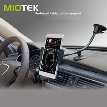 Adjustable gooseneck windshield suction Cup mount Car Tablet PC pad sucker stand holder for 5~10 inches pad