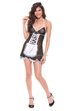 Fashion Sexy french maid cosplay costume ,short maid of honor dress