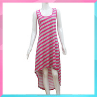 cusotm fashion striped causual dress for girls