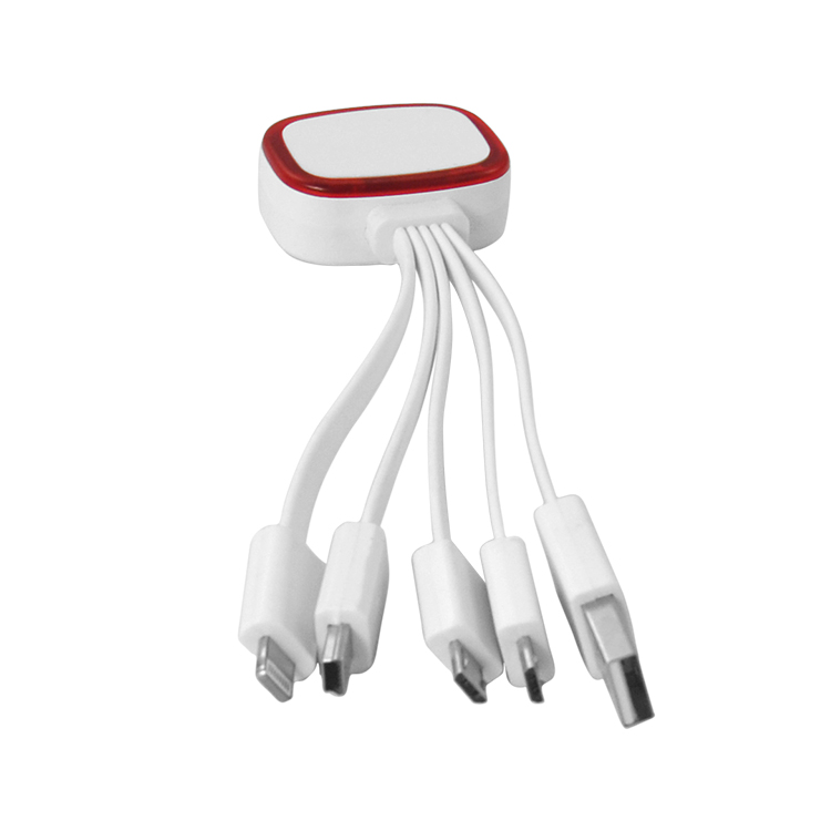 Portable factory price plastic USB data cable 3 in 1 cheap micro usb charging cable